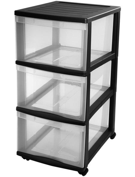 Rotho Schubladenturm »OPTIMO«, BxHxL: 30 x 65,5 x 38 cm, Kunststoff