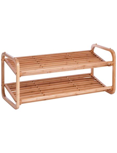 ZELLER Schuhregal, Holz, natur, 2 Fachböden