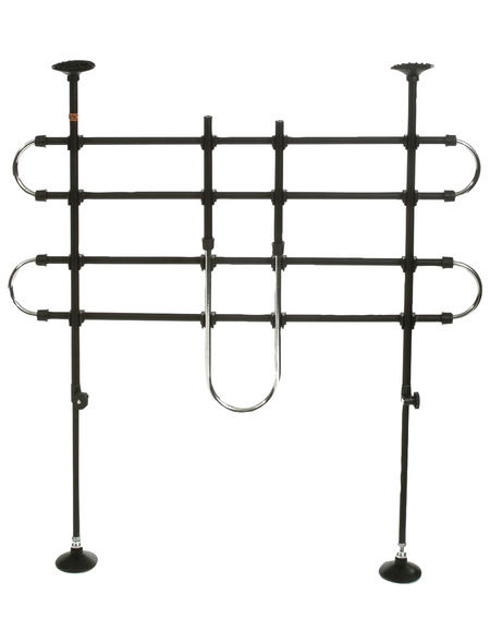 Schutzgitter, BxHxT: 142 x 63-109 x 5 cm, schwarz