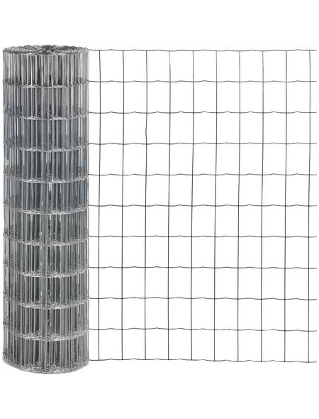 FLORAWORLD Schutzzaun, HxL: 102 x 2500 cm, silberfarben