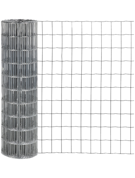 FLORAWORLD Schutzzaun, HxL: 122 x 2500 cm, silberfarben