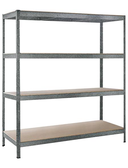 SCHULTE REGALWELT Schwerlastregal »XXL«, HxBxT 180 x 160 x 60 cm, 750 kg Traglast (max.), 3 Böden