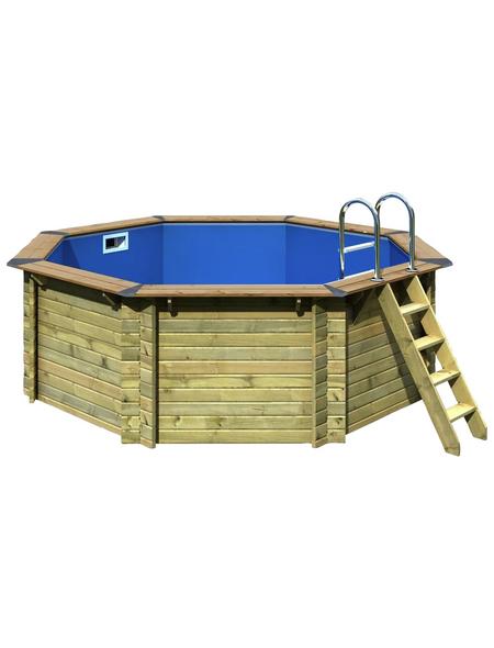 Schwimmbecken , BxLxH: 358 x 358 x 124 cm