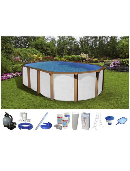 Schwimmbecken »OFB SdL«, oval, BxLxH: 370 x 610 x 130 cm