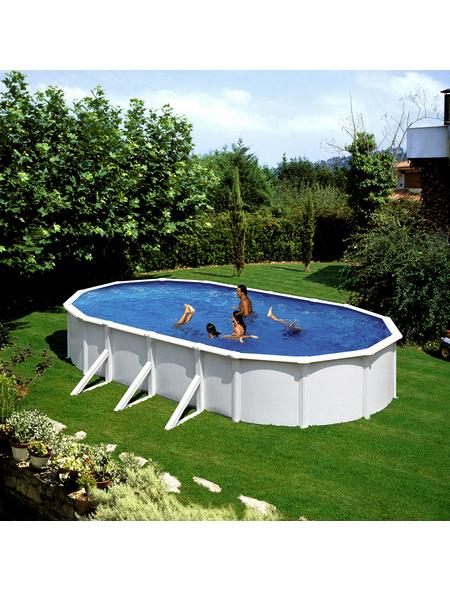 Schwimmbecken »Steely de Luxe heat «, oval, BxLxH: 360 x 610 x 120 cm