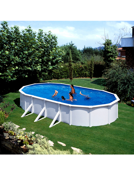 Schwimmbecken »Steely de Luxe «, oval, BxLxH: 80 x 145 x 130 cm