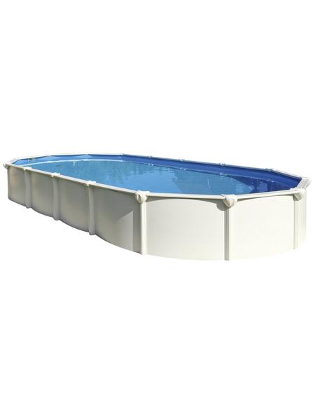 Schwimmbecken »Steely SUPREME «,  oval, B x L x H: 80 x 145 x 1300 cm