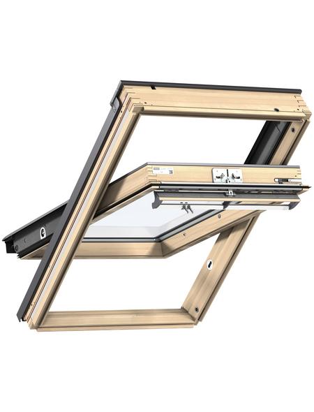 VELUX Schwing-Dachfenster »FK04«, Verbundsicherheitsglas (VSG), innen braun,