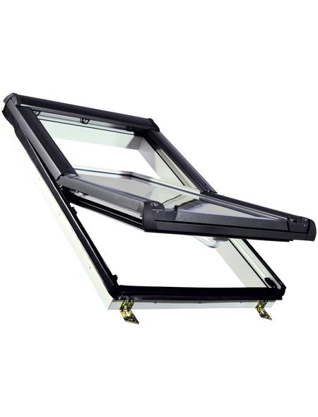 RORO Schwing-Dachfenster »KB«, ESG, innen weiß, Kunststoff