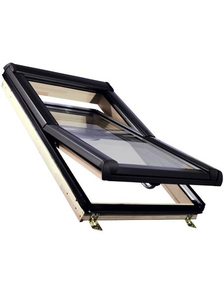 RORO Schwing-Dachfenster »«, Verbundsicherheitsglas (VSG), innen braun, Kiefer