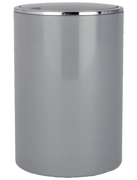 WENKO Schwingdeckeleimer »Inca «, 5 l, grau