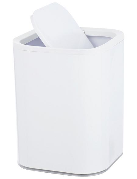 WENKO Schwingdeckeleimer »Oria «, 7 l, weiß|transparent