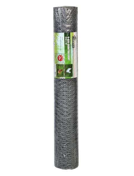 MR. GARDENER Sechseckgeflecht, HxL: 100 x 2500 cm, silberfarben