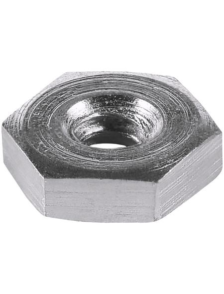 CONNEX Sechskantmuttern, M1, Silber, Stahl