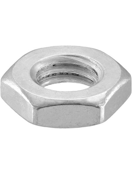 CONNEX Sechskantmuttern, M10, Silber, Stahl