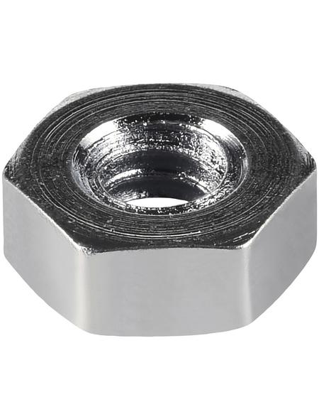 CONNEX Sechskantmuttern, M1,6, Silber, Stahl