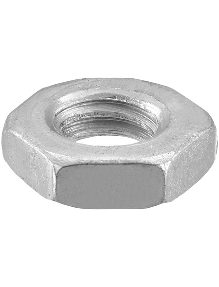 CONNEX Sechskantmuttern, M4, Silber, Stahl