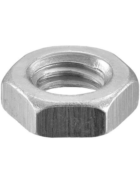 CONNEX Sechskantmuttern, M5, Silber, Stahl