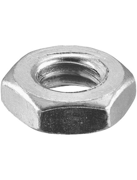 CONNEX Sechskantmuttern, M6, Silber, Stahl