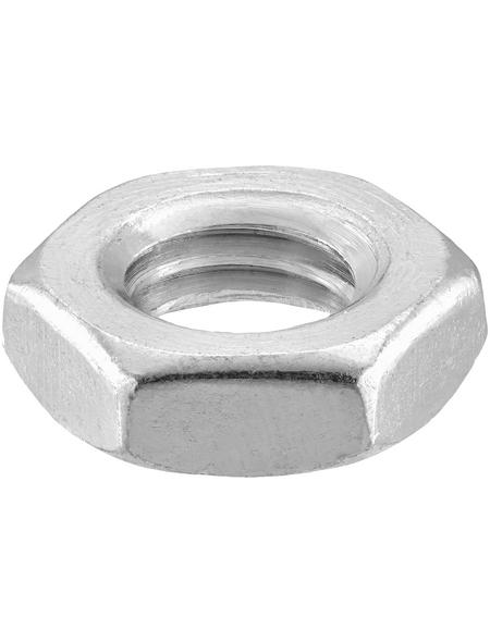 CONNEX Sechskantmuttern, M8, Silber, Stahl