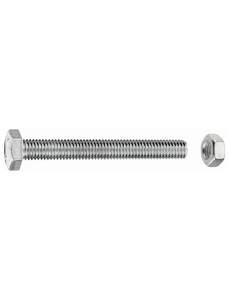 GECCO Sechskantschraube, 10 mm, Edelstahl, 4 Stück