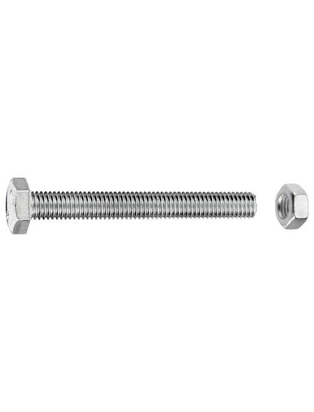 GECCO Sechskantschraube, 6 mm, Metall, 10 Stück