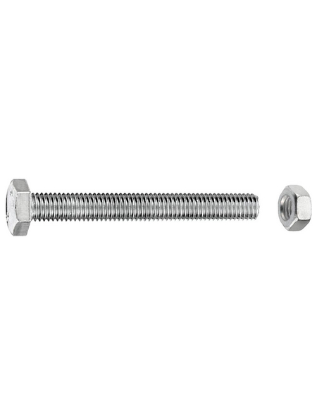 GECCO Sechskantschraube, 6 mm, Metall, 30 Stück