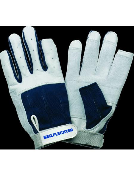 SEILFLECHTER Segelhandschuhe, weiss/blau