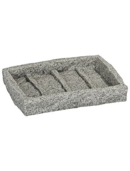 WENKO Seifenablage »Granit«, Polyresin, grau