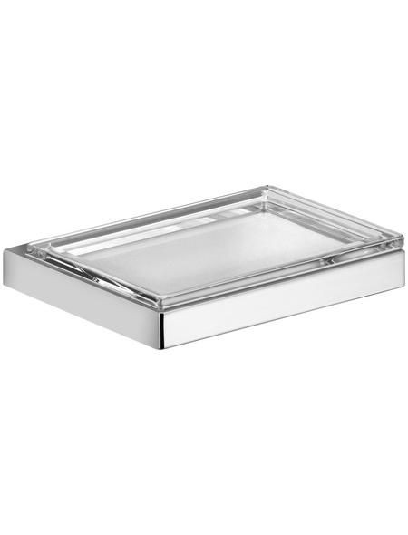 KEUCO Seifenablage, Kristallglas/Metall, glänzend, chromfarben