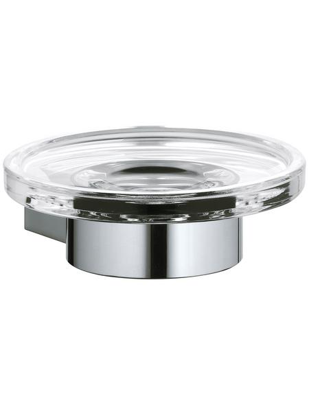 KEUCO Seifenablage, Metall/Kristallglas, glänzend, chromfarben/transparent
