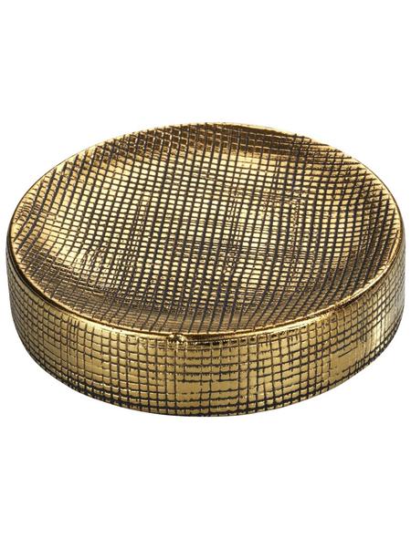 WENKO Seifenablage »Rivara«, Keramik, goldfarben