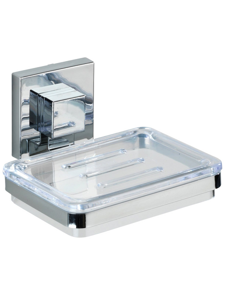 WENKO Seifenablage »Vacuum-Loc Quadro«, Edelstahl, silberfarben