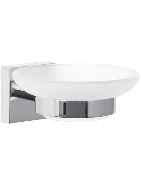 TESA Seifenhalter »Ekkro«, Metall/Glas, Metallfarben/weiß