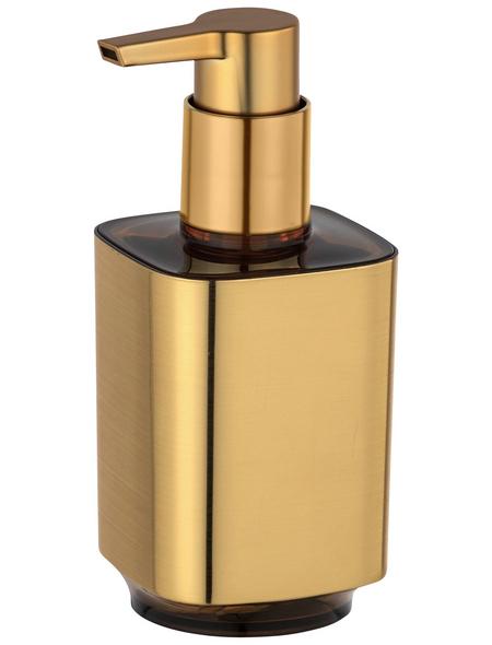 WENKO Seifenspender »Auron«, Kunststoff, goldfarben