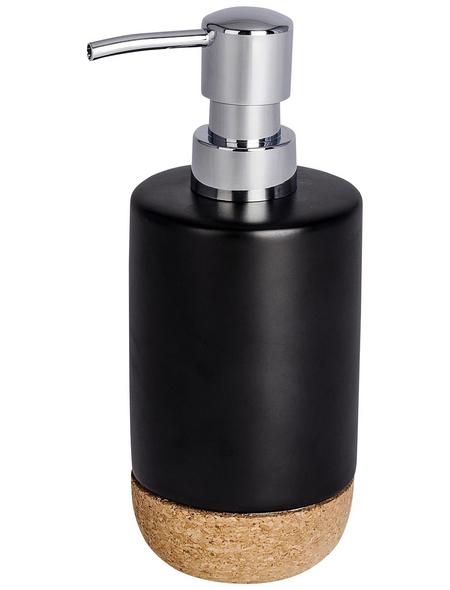 WENKO Seifenspender »Corc«, Höhe: 18,5 cm, schwarz