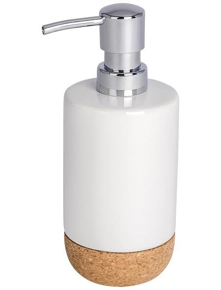WENKO Seifenspender »Corc«, Höhe: 18,5  cm, weiß