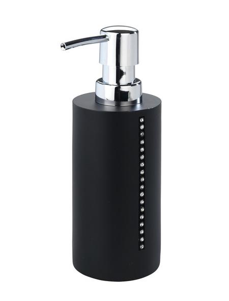 WENKO Seifenspender »Diamond«, Polyresin, chromfarben/schwarz