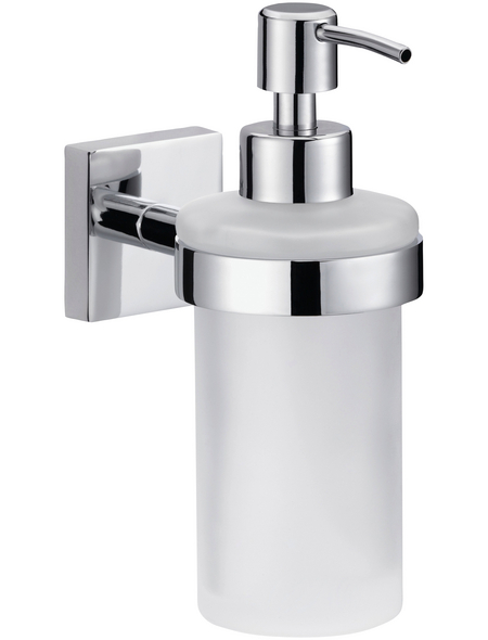 TESA Seifenspender »Ekkro«, Metall/Glas, metallfarben/weiß