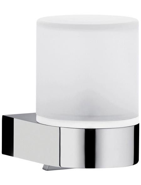 KEUCO Seifenspender, Höhe: 12,6  cm, weiss/chromfarben
