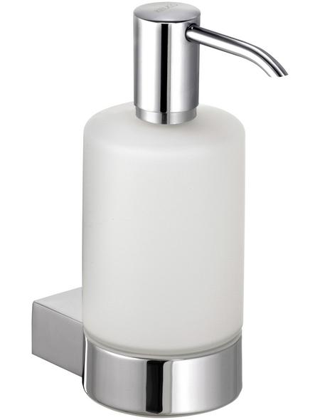 KEUCO Seifenspender, Höhe: 16,2  cm, weiss/chromfarben