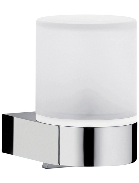 KEUCO Seifenspender, Kunststoff/Kristallglas/Metall, glänzend, weiß/chromfarben