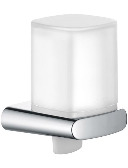 KEUCO Seifenspender, Kunststoff/Metall, glänzend, chromfarben/weiß