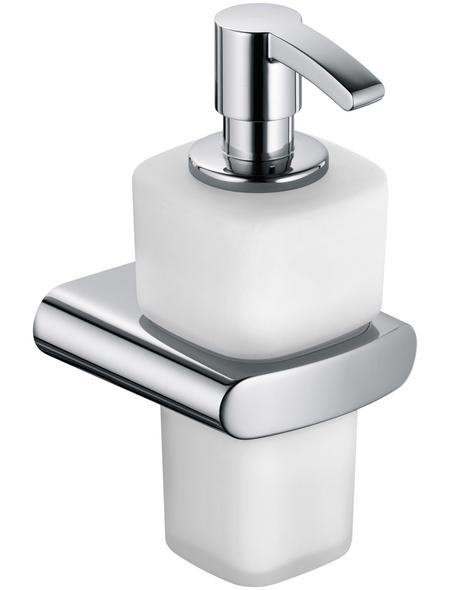 KEUCO Seifenspender, Kunststoff/Metall/Glas, glänzend, weiß/chromfarben