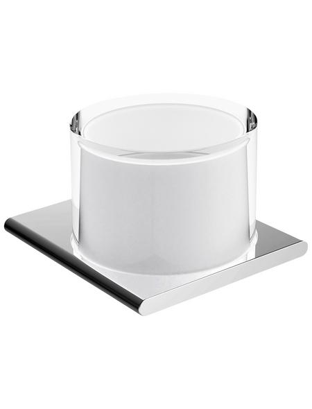 KEUCO Seifenspender, Metall/Glas/Kunststoff, glänzend, chromfarben/weiß