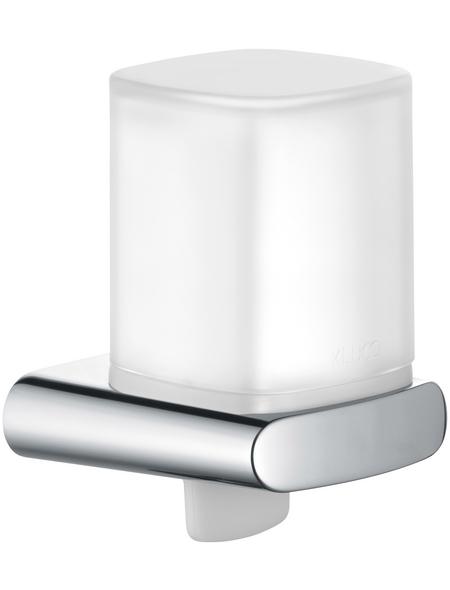 KEUCO Seifenspender, Metall/Glas/Kunststoff, glänzend, weiß/chromfarben