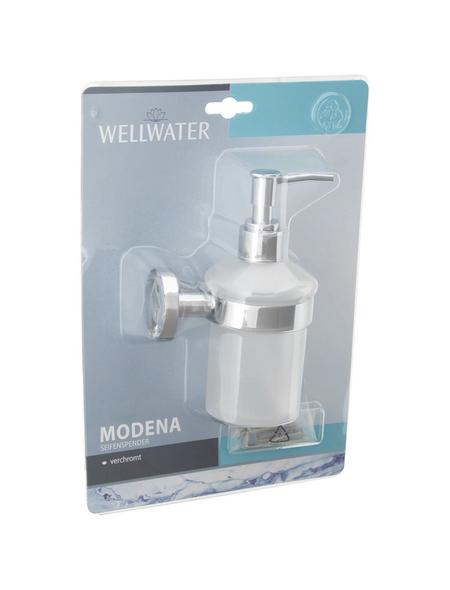 WELLWATER Seifenspender »MODENA«, Kunststoff | Metall | Glas