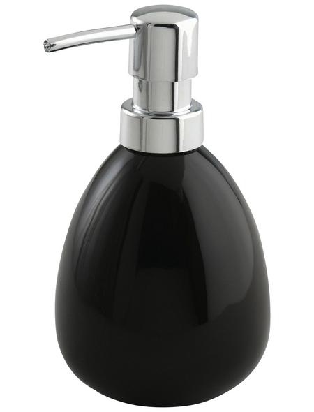 WENKO Seifenspender »Polaris«, Keramik, schwarz