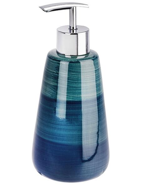 WENKO Seifenspender »Pottery«, Keramik, petrolfarben