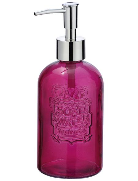 WENKO Seifenspender »Vetro«, Glas, rosa